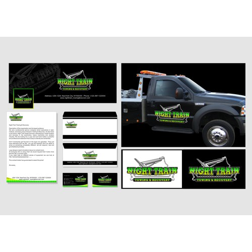 Night Train Towing & Recovery needs a Powerful Presence, for a professional company.