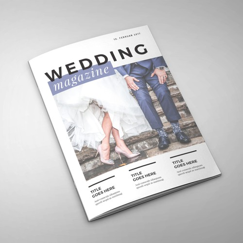 Magazine template design