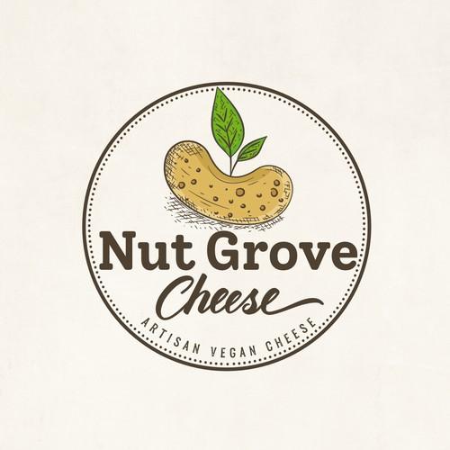 Vegan cheese artisan logo design