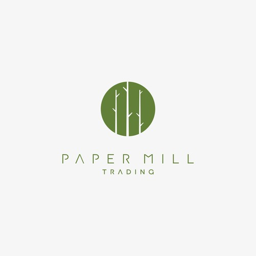 Wood Craft Company Logo for Paper Mill Trading