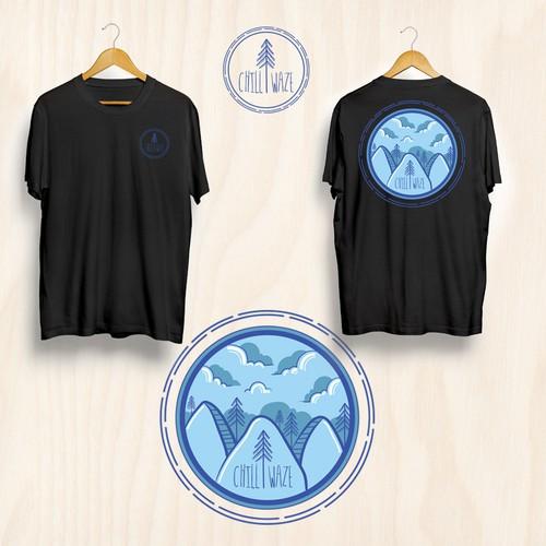 t shirt design Chill Waze