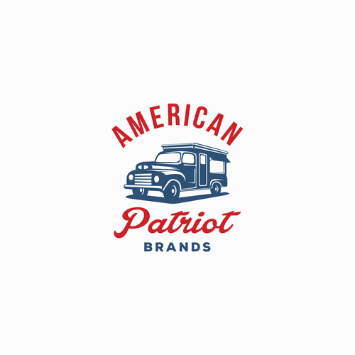 bold and retro logo design for food truck brand
