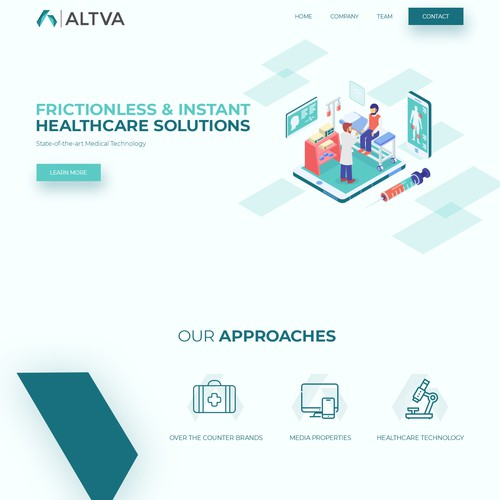 Web design concept for ALTVA