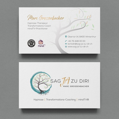 Business Card Design With letterpress spot