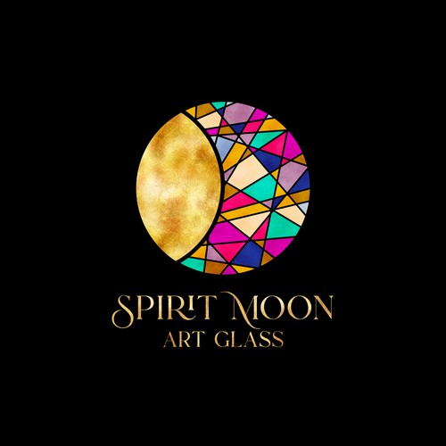 Spirit Moon Art Glass Logo Design