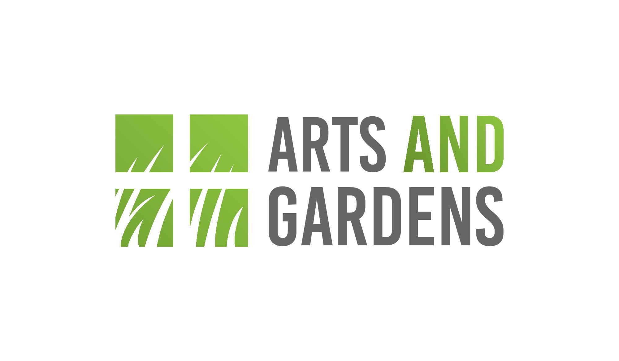 Create logo text that looks at gardens in a new way