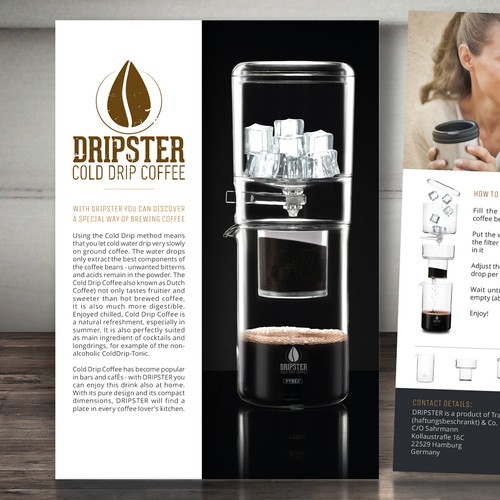 Coffee maker brochure