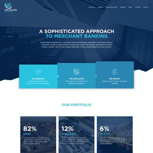 Webdesign for Palisade Global