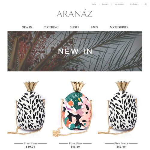 Product display page - fashion accessorie brand