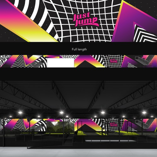 Graphic for a Trampoline Park