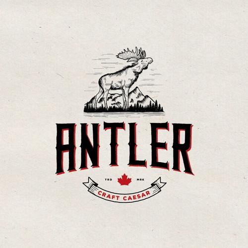 Hand-drawn logo for Antler Craft Ceasar