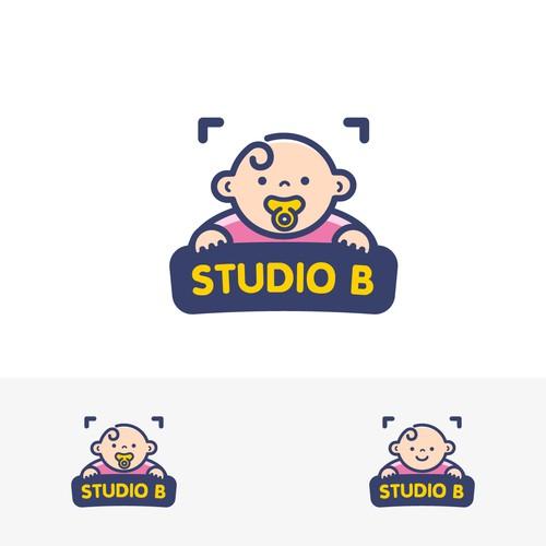 New born babies photographer logo concept