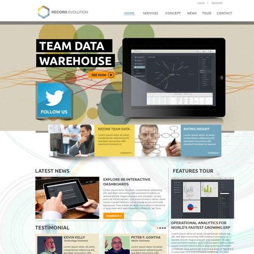 website design für Record Evolution