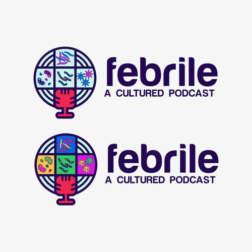 "Design a logo for ""Febrile"", an infectious disease podcast"