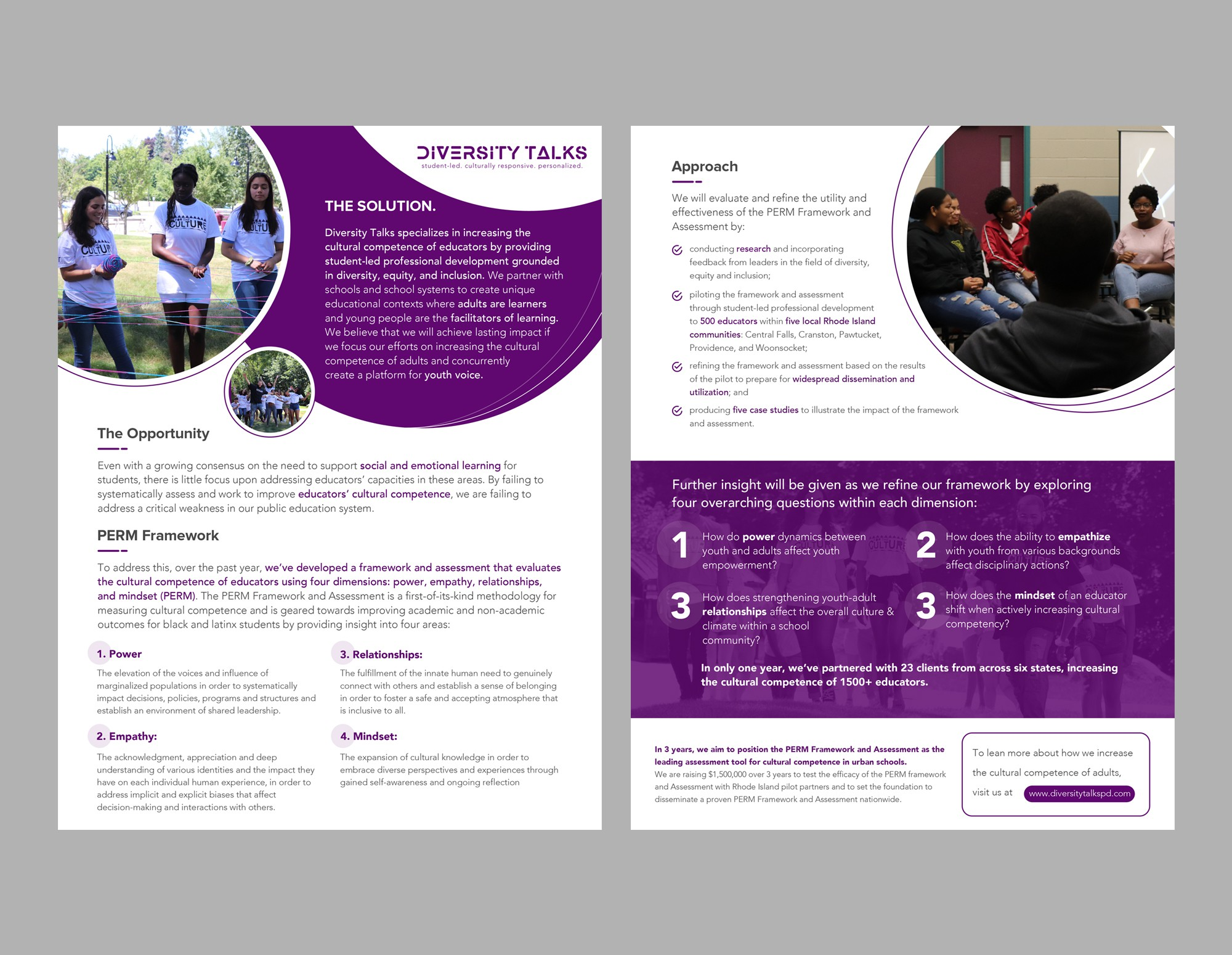 One-pager overview document for nonprofit