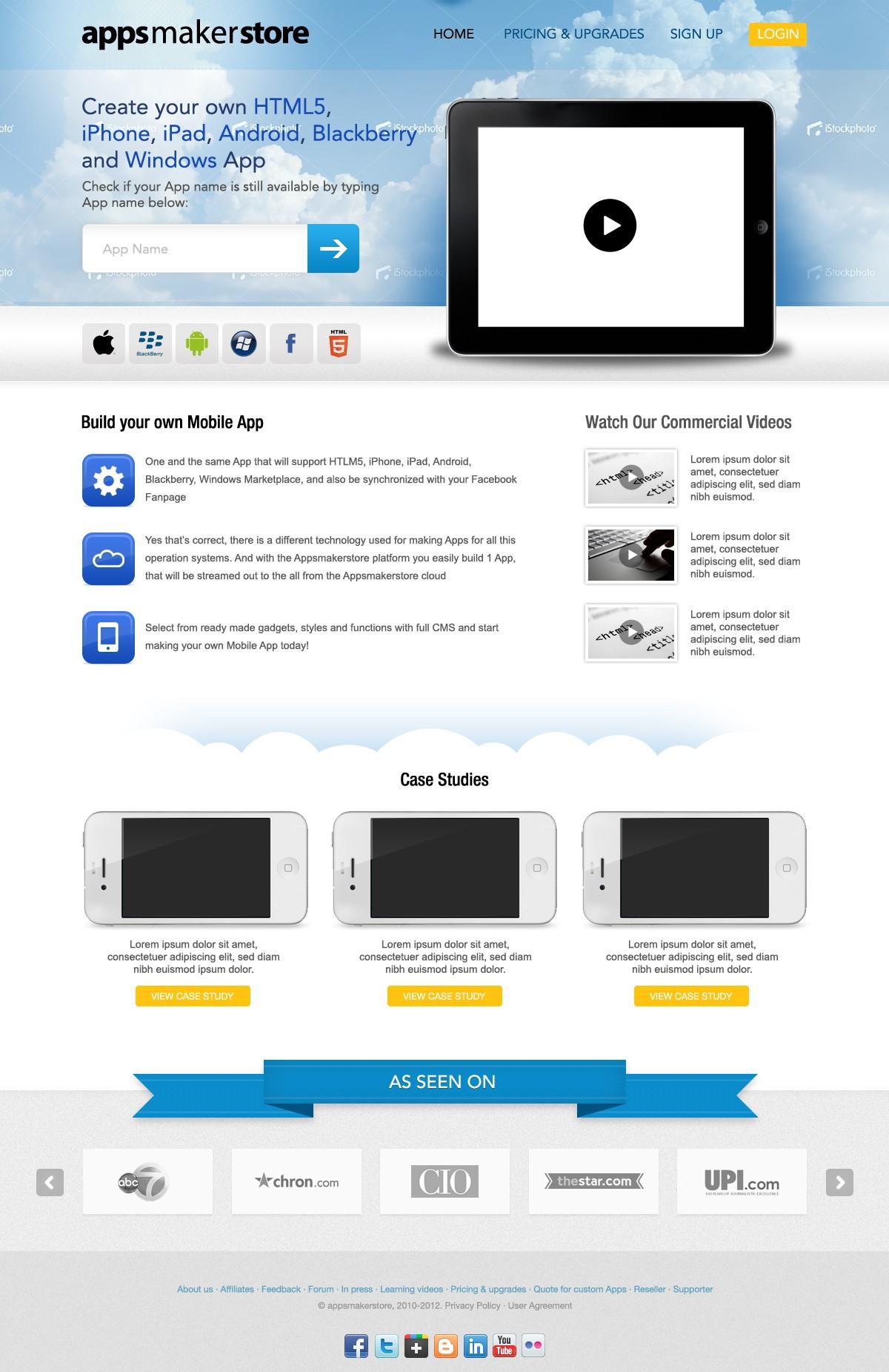 Facelift for Appsmakerstore - The Leading Mobile App Maker!