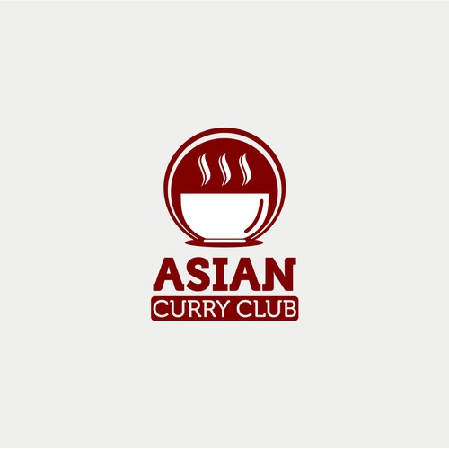 Logo concept for asian curry club