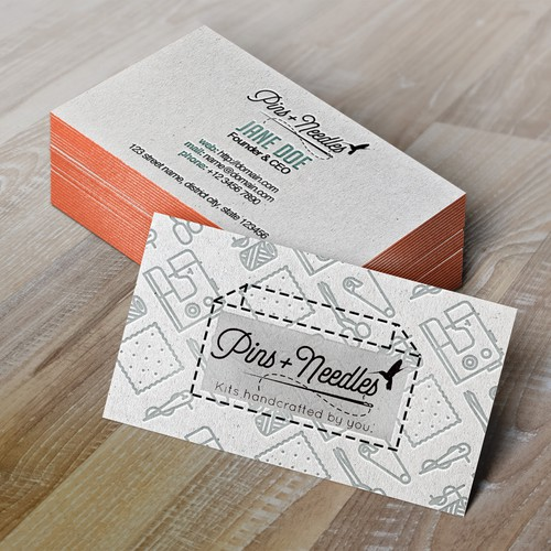 Pins + Needles Business Card Design Entry