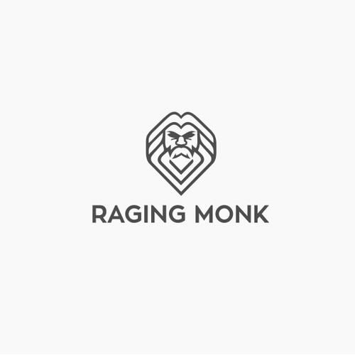 Bold and funky logo for Raging Monk