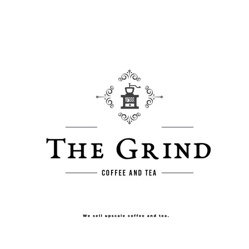 "Logo for a coffee brand ""The Grind"""