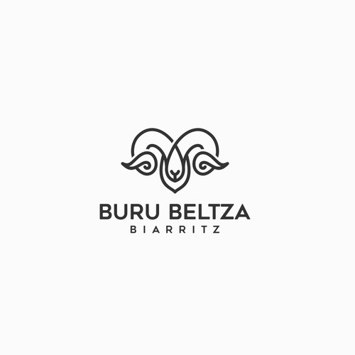 trendy and classy logo in Basque country atmosphere