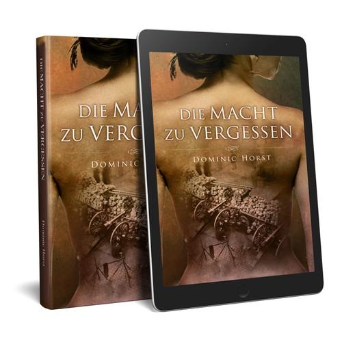 """Book cover design for """"Die Macht zu Vergessen"""""""