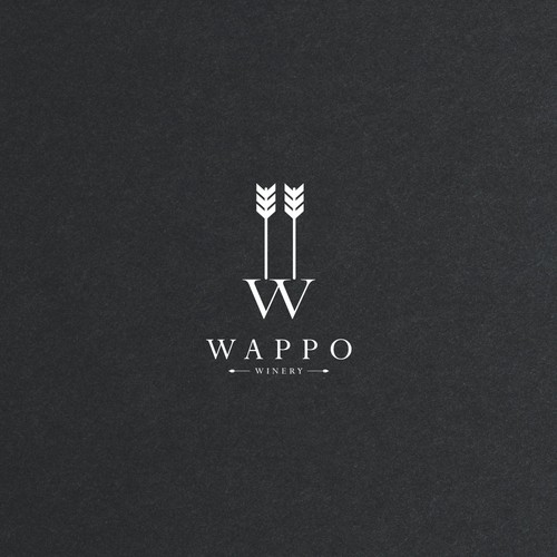 Classic logo design for winery company