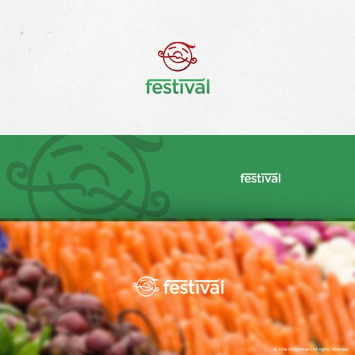 Cheerful logo for food festival