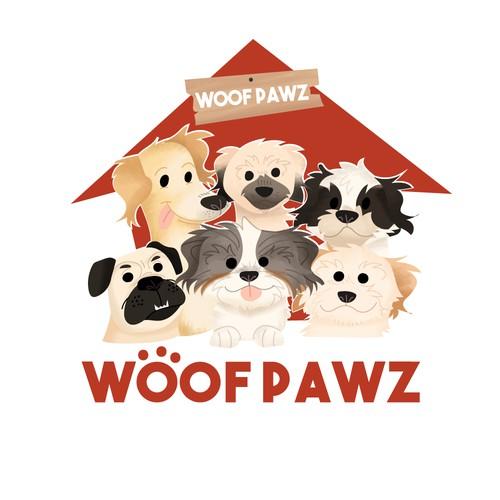 Woof Paws Logo