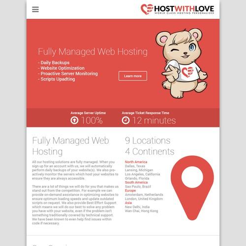 Website redesign for hosting company