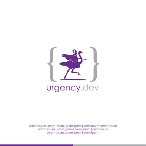 """Concept logo design for """"urgency.dev"""""""