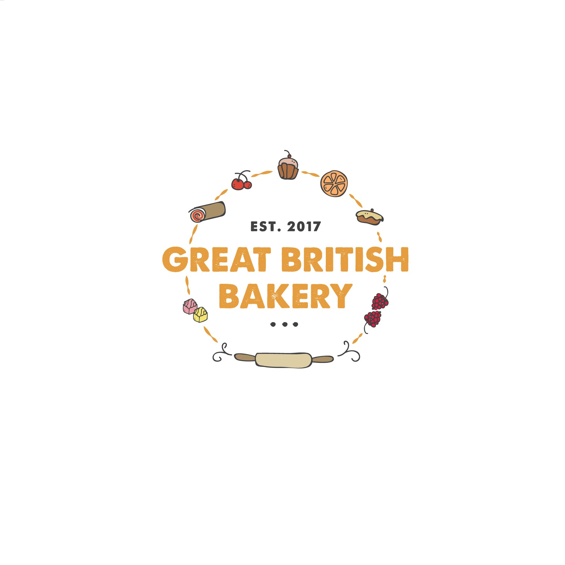 A new British bakery in Boston needs a cool and sophisticated logo.
