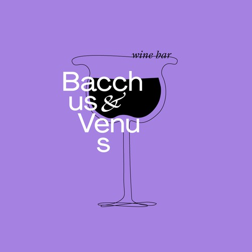 Logo concept for vine bar