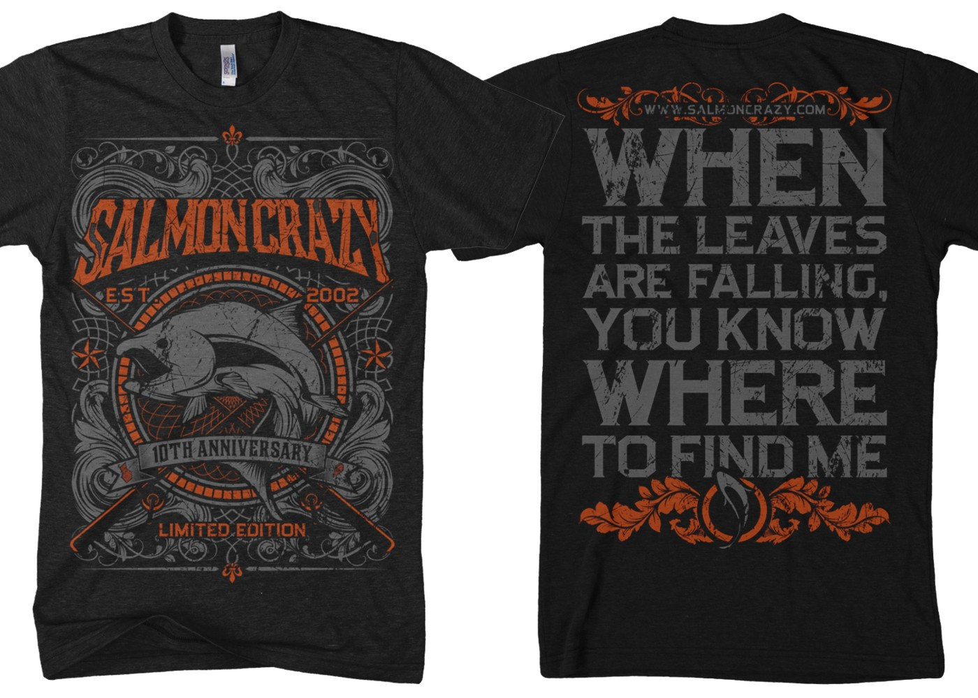 SalmonCrazy Needs A Killer T-Shirt Design for A Modern Fly Fishing Brand