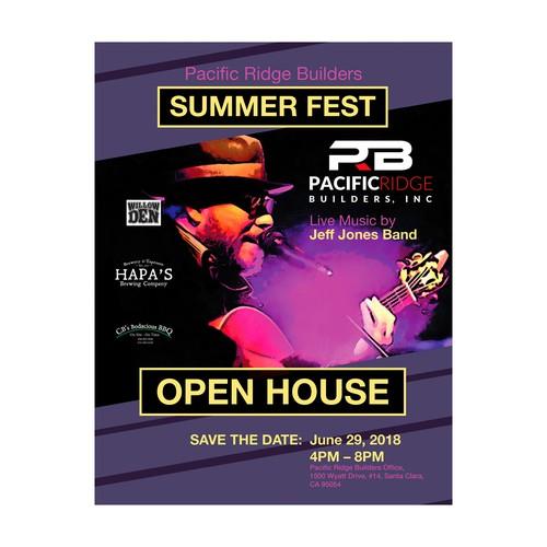 Flyer for Summer Fest