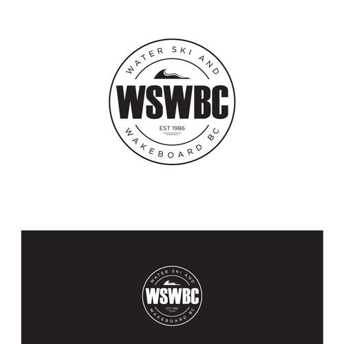 logo for waterski nd wakeboard brand wswbc