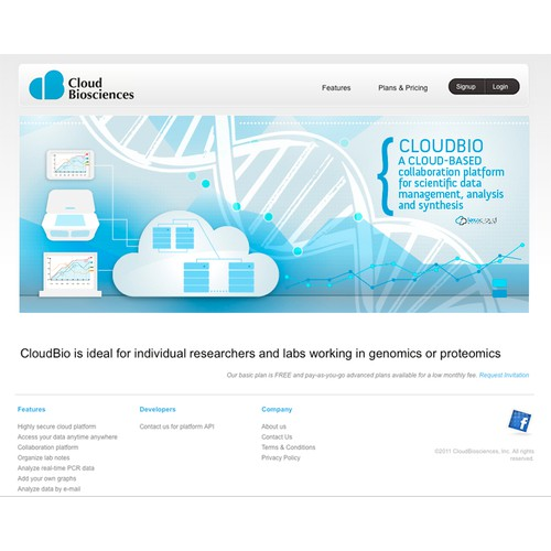 Header image design for LexaCloud site