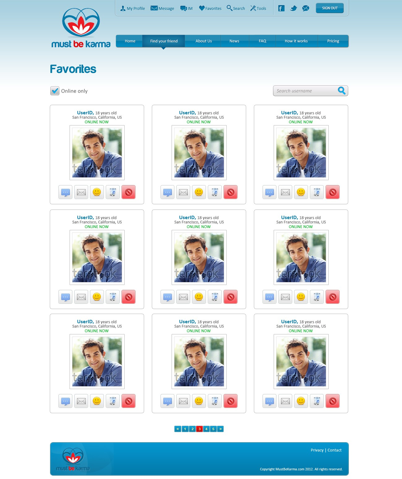 mustbekarma needs a new website design