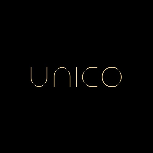 Custom made wordmark for UNICO.