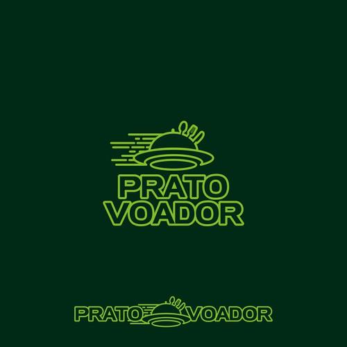 Prato Voador, Food Delivery Logo