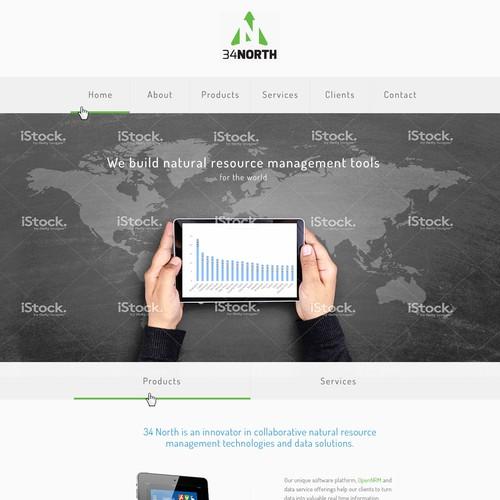 Website concept - 34North