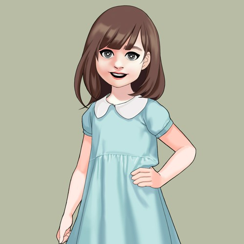 turn my daughter into a cartoon character