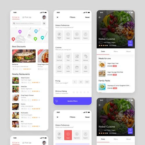 Food Pre-ordering App Design
