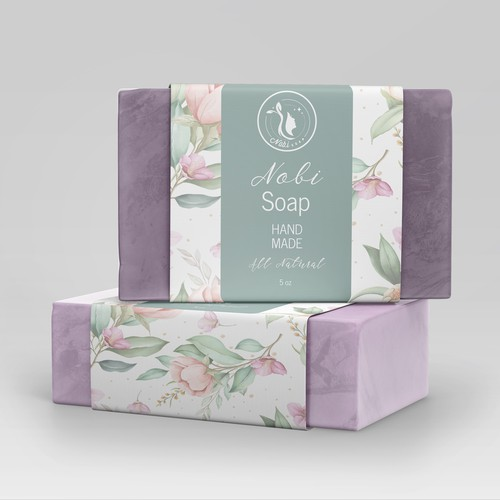 Make me an awesome luxury soap label for women