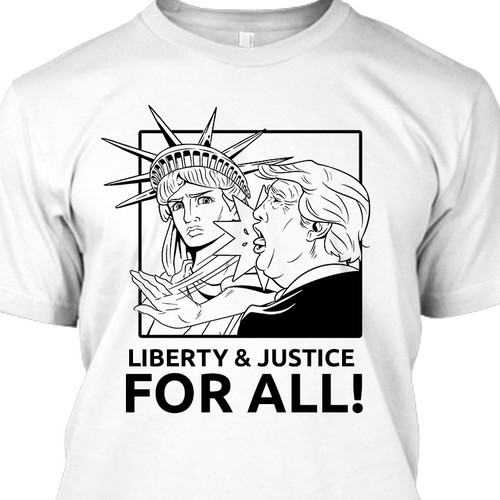 Lady Liberty slapping a Businessman/Politician