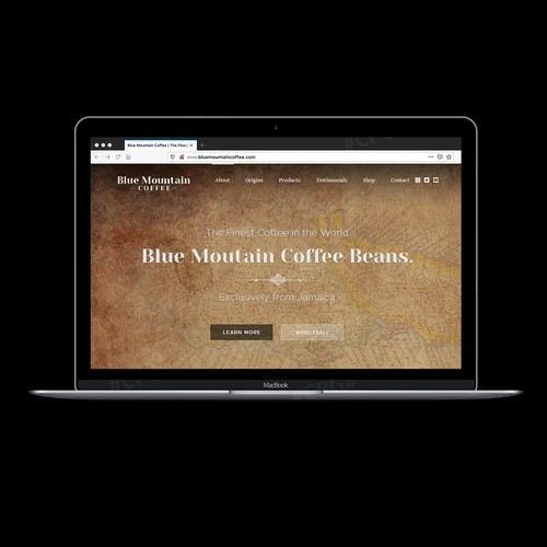 Coffee Roaster Website Concept