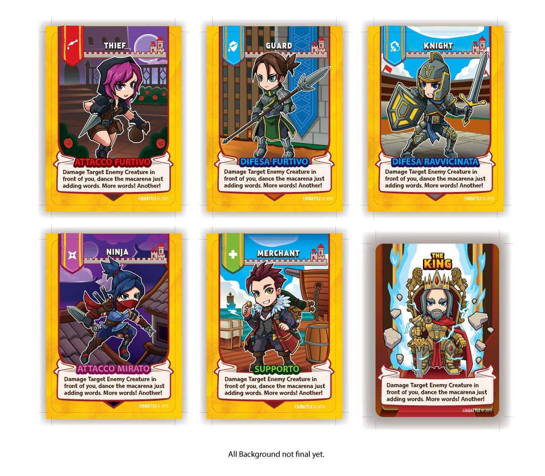 Create eye-catching front card designs for card game