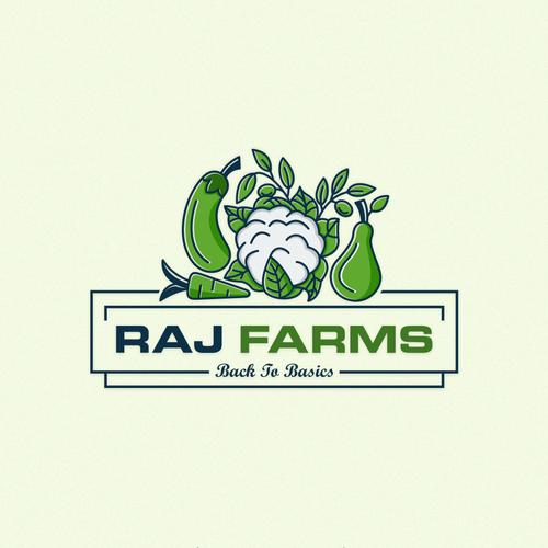 Logo concept for RAJ FARMS