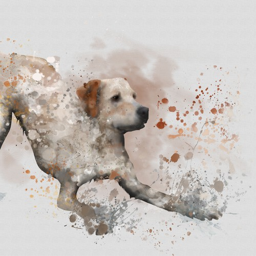Mirro dog illustration B