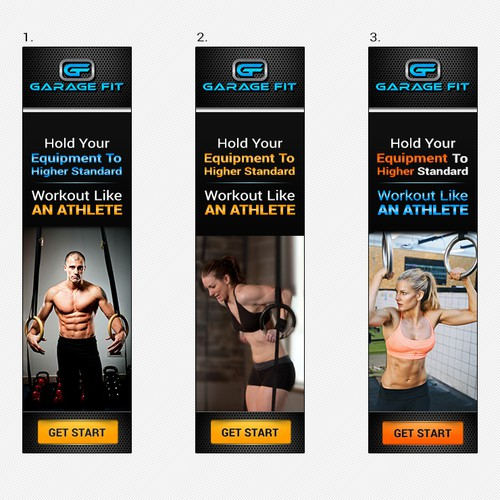 Garage Fit Affiliate Banner Designs - Banners should be crossfit/exercise related.